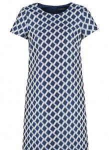 Sukienka retro w stylu lat 60 w romby