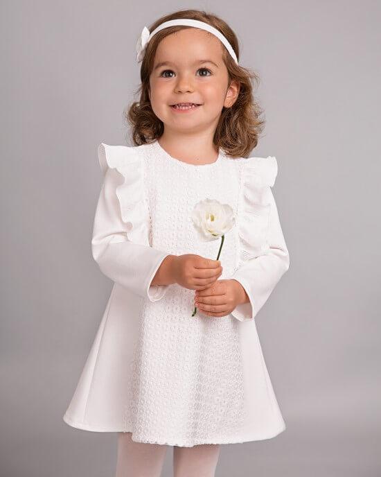 biała sukienka do chrztu