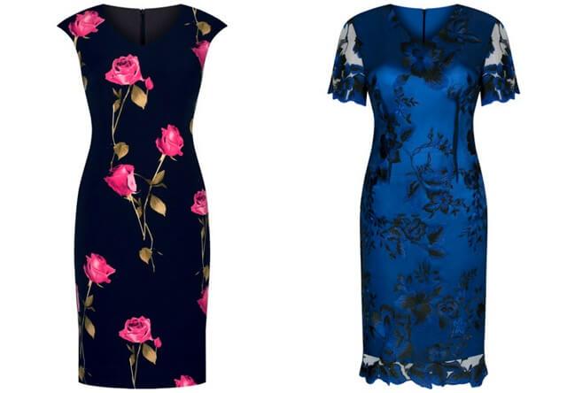Sukienki dla puszystych we wzory