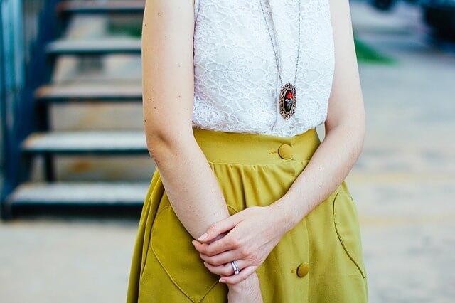 Stylizacja na wiosnę - żółta spódnica