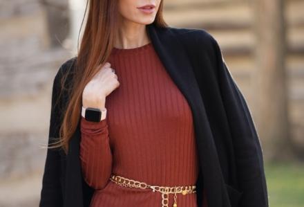 Sukienka z żakietem w podobnym czy kontrastowym kolorze?